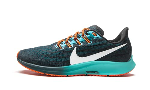 Nike Air Zoom Pegasus 36 HKNE, Scarpe da Corsa Uomo, Black/Mtlc Summit Wht/Midnight Turq/Aurora Green/Hyper Crimson, 38.5 EU