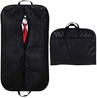 Suit Garment Bag Travel Zippered Clothes Cover 1 Pack, Black