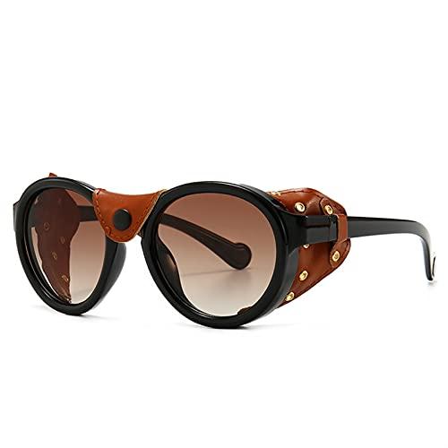JIANCHEN Gafas de Sol Classic Punk Gafas de Sol Mujeres Hombres diseñador de la Marca Gafas de Sol Hombres Vintage Vintage Gafas de Sol Retro Oval Punk Oculos De Sol Gafas UV400 (Color : 3)