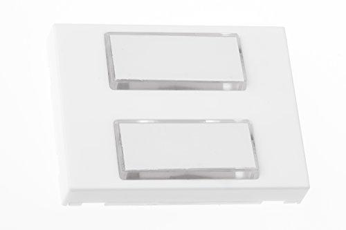 HUBER Klingeltaster 12112, 2-fach aufputz, beleuchtbar, rechteckig, aus Polystyrol