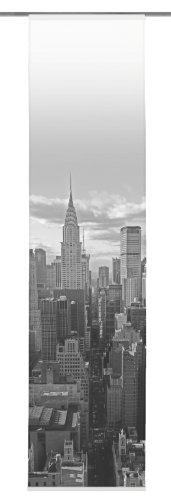 Home Fashion 86539-796 Schiebevorhang Digitaldruck New York/Dekostoff 245 x 60 cm