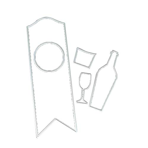 Rongzou snijden Dies koolstofstaal Cartoon Wijn Cup Fles Card snijden Die Scrapbook Bookmark Decor