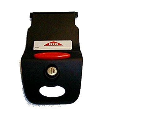 Kappa - Z641nmk cremallera negro montada para bauletti k35y k46con cerradura