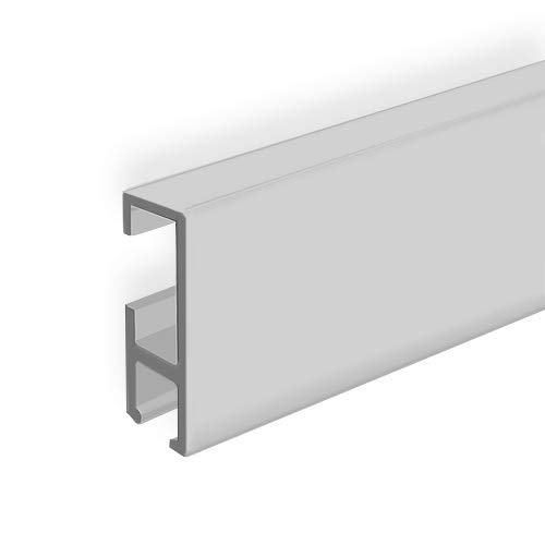 clip-rail galería sistema para colgar cuadros con ganchos montado en la pared Stas cliprail negro blanco plata nogal madera incluido fijaciones, Blanco, 3 METER (9 Feet 10 Inches)