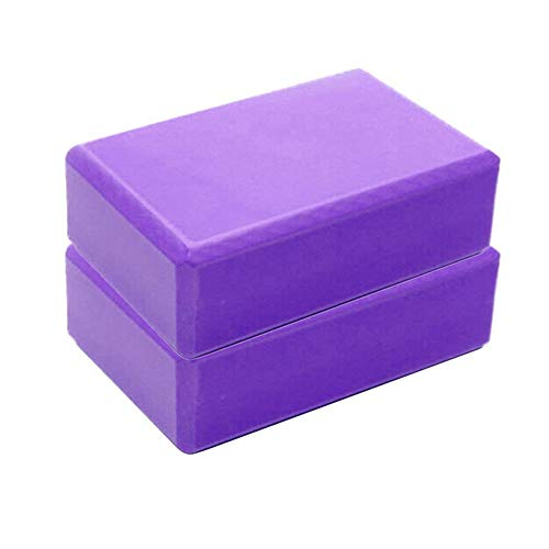 SHNAN Blocco Yoga- Blocchi Yoga mattoncino Yoga Block Accessori per Yoga Mattone in Schiuma espansa Eva Foam Brick Mattoncini Yoga Blocks in Schiuma Eva ad Alta Densità | Blocchi Gym Aid