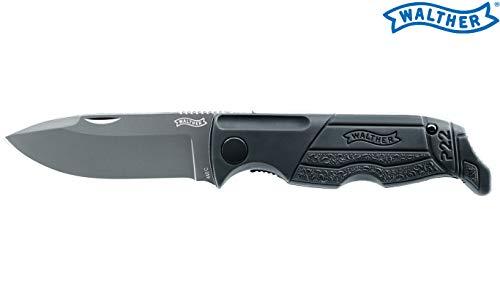 Walther Erwachsene Messer P22 Knife, Schwarz, 18,2cm