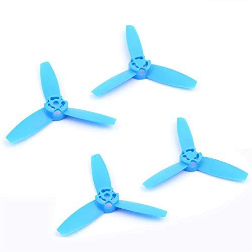 VSLIFE 4 unids hélices hélices Cuchillas Principales rotores Accesorios Rojo Colorido Remo de trébol para Loros Bebop Drone 3.0 (Color : 4PCS Blue)