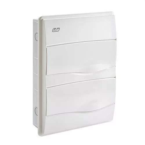 IDE BM24PO IP40 Caja de Distribución de Empotrar, Blanco, 353mm x 263mm x 65mm