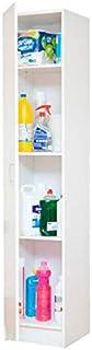 Sbrico Armario Multiusos - Mueble Auxiliar para Almacenaje Color Blanco de Fácil Instalación