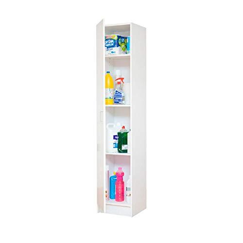 Sbrico Armario Multiusos - Mueble Auxiliar para Almacenaje, Color Blanco, de Fácil Instalación