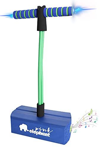 ALLCELE Pogo Stick für Kinder mit Licht & Sound, Schaum Pogo Pullover für Jungen & Mädchen Kinder Alter 3 +(Dark Blue)