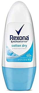 REXONA Women Cotton Dry Roll On Deodorant 50ml -Ultra-dry antiperspirant protection with Motionsense – the more you move, ...