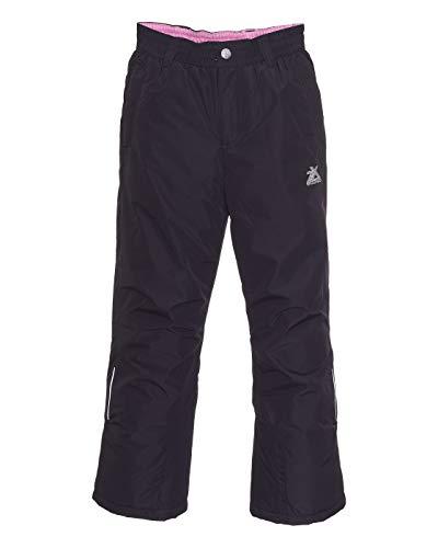 ZeroXposur Girls Snow Pants Heavyweight Insulated Kids Ski Pants (Black, Large)