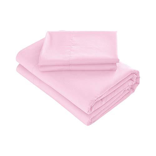 Prime Bedding Bed Sheets - 4 Piece Queen Sheets, Deep Pocket Fitted Sheet, Flat Sheet, Pillow Cases - Queen Sheet Set, Light Pink