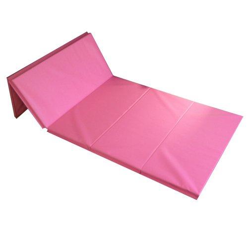 The Beam Store Folding Gym Mat, 4-Feet x 8-Feet x 4-Inch, Pink