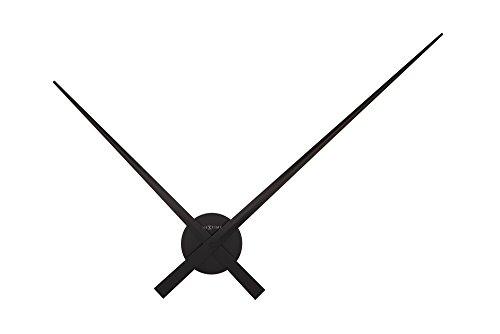 NeXtime Hands Wanduhren, Metall und Kunststoff, Schwarz, Ø 85 cm