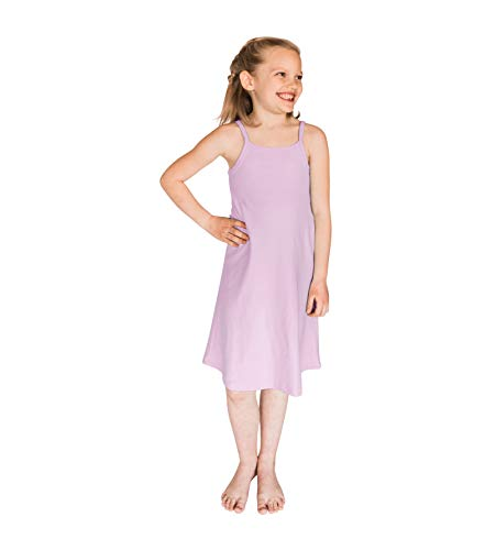 POPINJAY Girls' Spaghetti Strap Cami Summer Dress for Toddlers and Big Kids, Feels Soft and Looks Adorable, Perfect for Spring and Fall - Size 2T - 14 (Lavender, 2T)