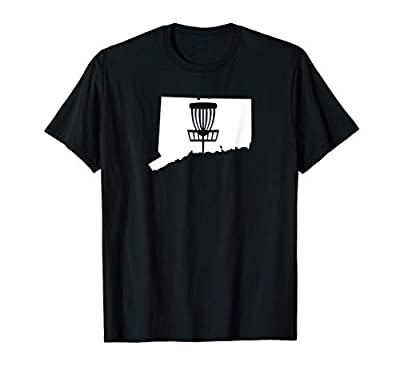Connecticut Disc Golf State with Basket Graphic T-Shirt