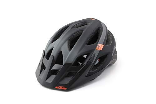 KTM Fahrradhelm schwarz/grau matt Factory Character Helm, Helmgröße:54-58