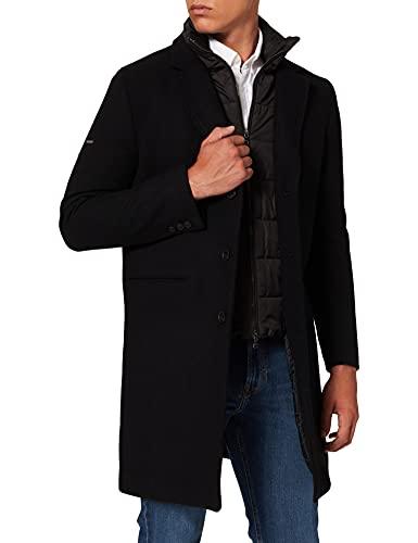 Superdry Studios - Abrigo acolchado de lana para hombre negro L