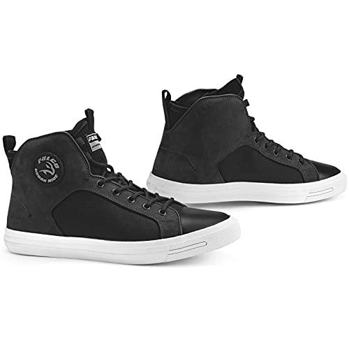 Falco Motorrad Sneaker STARBOY 2 schwarz Leder elastisch CE mit Protektoren, 44