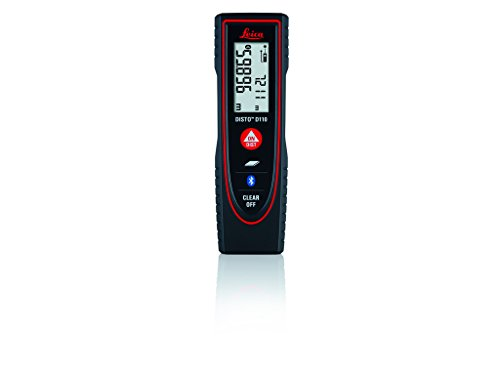 Leica DISTO D110 (E7100i) 60m/200ft Laser Distance Measure with Bluetooth - Black/Red