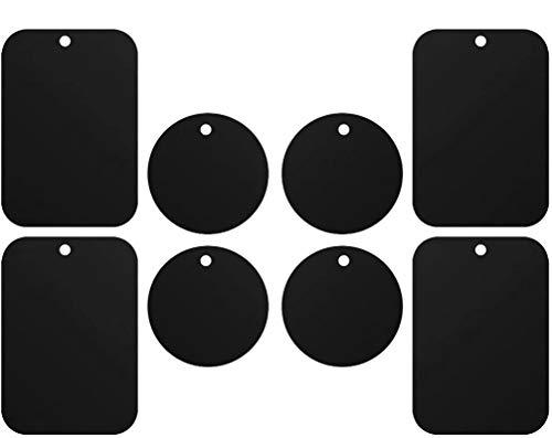 iVoler [8 Pezzi Calamita per Cellulare Auto, Super Adesivo Piastrine Metalliche Smartphone, Placche Metalliche per Universale Porta Cellulare da Auto Supporto Telefono Magnetico