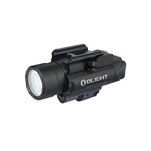 OLIGHT(オーライト) Baldr RL ウェポンライト フラッシュライト タクティカルライト 懐中電灯 1120ルーメン 大容量4000mAh IPX4防水 防振 3つモード CR123A電池 レッドビーム付き サバゲー 自衛 黒