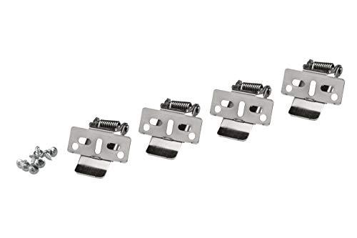 Zielo Pinzas de sujeción para paneles LED, material de montaje para montaje en techo.