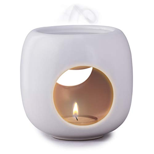 Kaloogo® Sabai Scent Pure - Keramik Duftlampe/Duftlicht - weiß matt