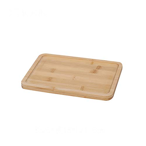 Nileco Bamboo Serving Tray,Multi-functional Food Serving Trays,Stylish Waterproof Serving Platters,Serving Tray Large Dinner Drink-C 25x18x1.5cm(10x7x1inch)