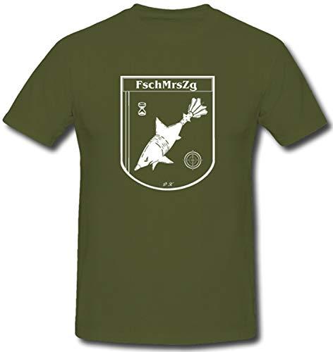 Fallschirmjäger Mörser Zug Seedorf ISAF Bundeswehr Kompanie - T Shirt #1154, Farbe:Oliv, Größe:Herren M