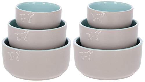 Cajou 2 er Set Keramiknapf für Hunde Dog Spirit - Futternapf und Wassernapf für Hunde (2 x 1750 ml)
