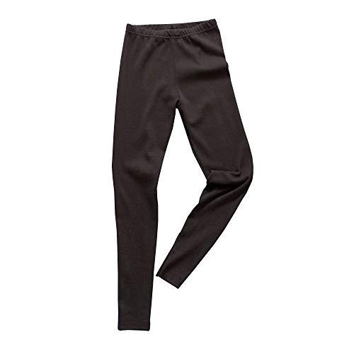 HERMKO 2720 Kinder Legging Unisex aus 100% Bio-Baumwolle für Mädchen und Knaben, Farbe:schwarz, Größe:128