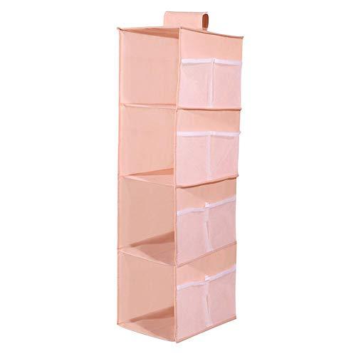 LITOSM Organizzatore Armadio 4 Scaffale Abiti Appeso Organizzatori Pant Organizzatori Holder Armadio Sezione Sezione Armadio Armadio Organizzatore Scarpa Vestiti Abbigliamento (Color : Pink)