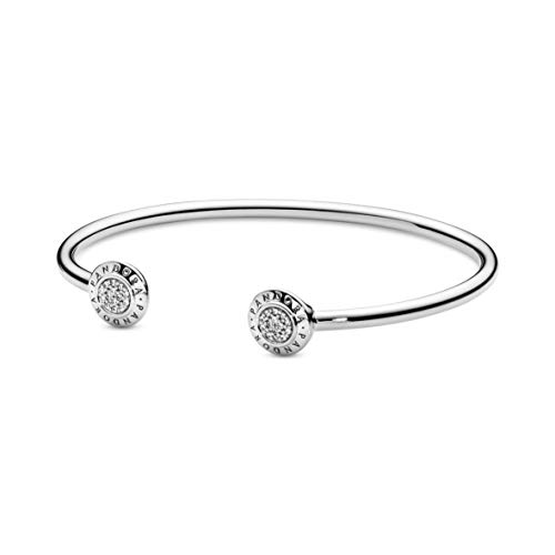 Pandora Jewelry Signature Cubic Zirconia Bracelet in Sterling Silver 69quot