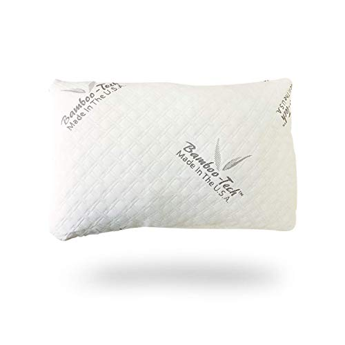 Memory Foam + Fiber Neck Pillows for Sleeping- Adjustable Pillows for The Side & Back Sleeper with Washable Bamboo-Tech Pillow Covers (Queen)