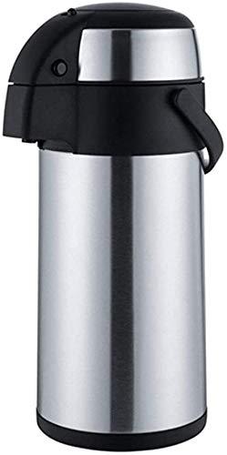 ZCRR Jarra al vacío, olla aislante, acción de bomba de acero inoxidable de 2,5 a 5 l, perfecta para líquidos fríos calientes y al aire libre (tamaño: 14,5 x 43 cm)