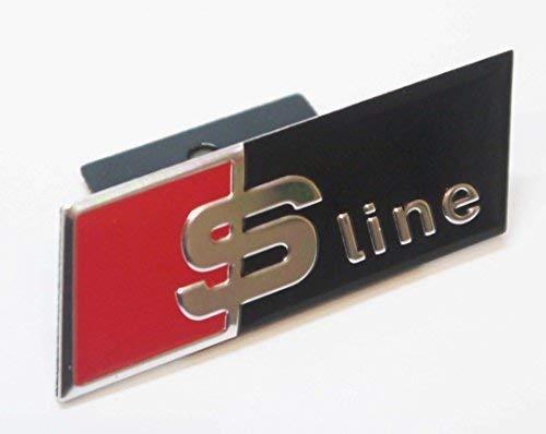 Chrom Schwarz Rot S LINE Frontgrill Abzeichen Emblem für Verdeckter Gitter Arten