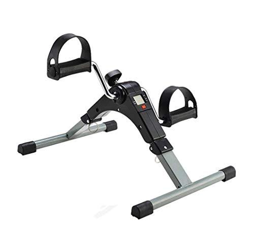 DBWIN Petit Stepper Accueil Mini Jambe vélo d'exercice Rééducation Jambe Bas Membre Formateur Équipement de Fitness Pliant Vertical agrandir la Taille 49 * 3.7 * 35 cm (Couleur: Noir)