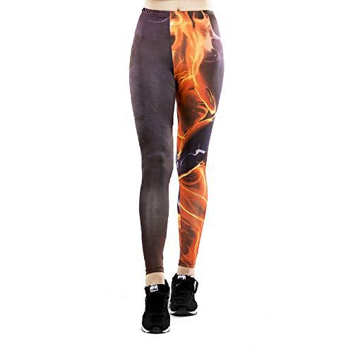 DSCX legging voor dames, joggingbroek, bedrukt, stretch, grote maten, buiten, grote maten