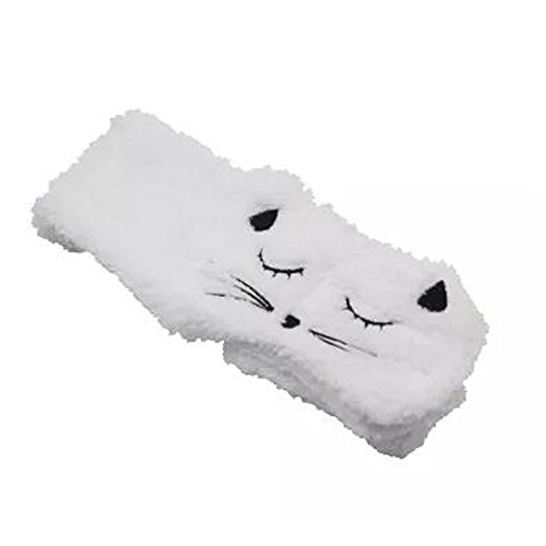 Lovely Cat Wide Side Hair Accessoire Headband Handcraft Hair Band, Blanc