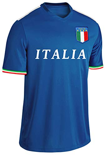 Blackshirt Company Italien Trikot Fußball Fan Trikot Blau Größe XL