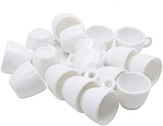 JETEHO 20 PCS Mini White Coffee Mug Tea Cup Big Size Dollhouse Miniatures Food Kitchen Decor Dollhouse Kitchen Accessories