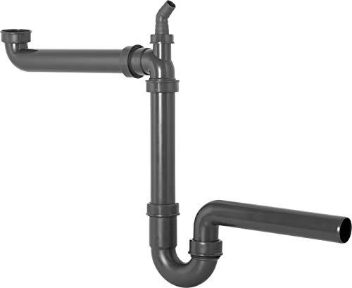 Cornat Rezyklat Raumspar-Geruchsverschluss für Spültische - 1 1/2 Zoll x 40 mm - Mit Geräteanschluss - Hergestellt aus recycelten Kunststoffen - Made in Germany Qualität / Siphon / T353103R