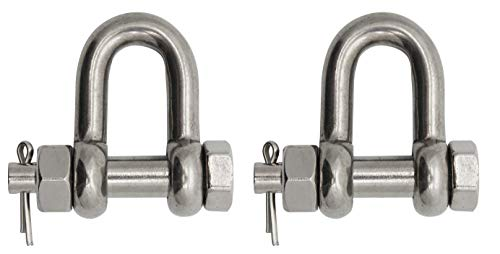 Extreme Max 3006.8363.2 BoatTector Stainless Steel Bolt-Type Chain Shackle - 1