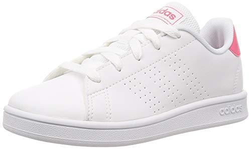 Adidas Tenis Advantage EF0211 para Jóvenes (Unisex), Color Blanco/Rosa, Talla 22 Mex