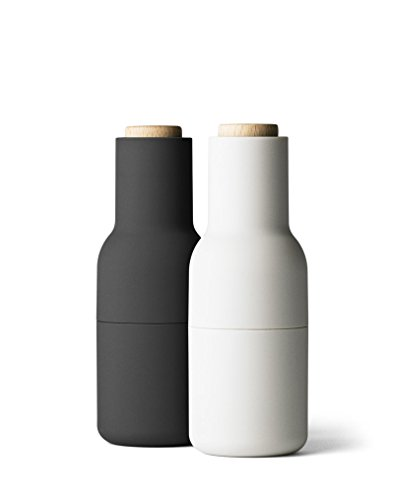 Menu - Bottle Grinder Classic Mühlen-Set - grau - Deckel Buche - Norm Architects