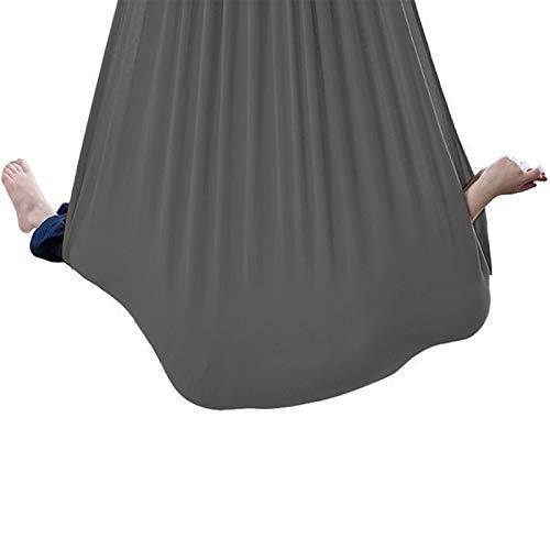 zyy Columpio Terapéutico Interior para Niños Hamaca Suave con Necesidades Especiales para Niños Yoga Integración Sensorial Camping Al Aire Libre (Hardware Incluido) Gris (Size : 150x280cm/59x110in)