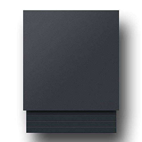 Briefkasten Edelstahl B1 Light Anthrazit, moderner Premium Design Wandbriefkasten mit Zeitungsfach